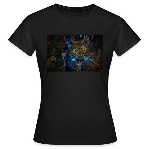Fluo Katze - Frauen T-Shirt