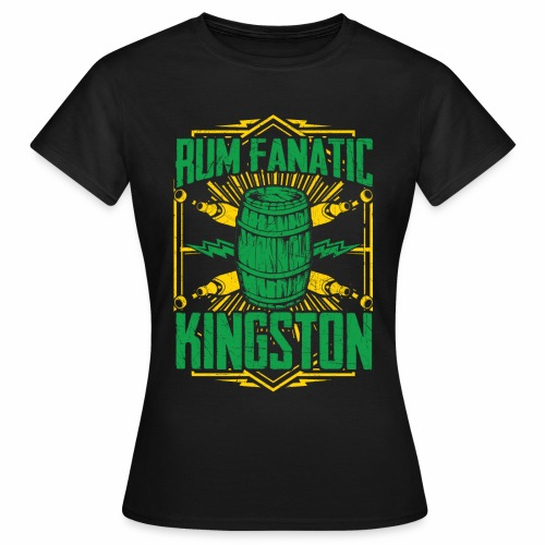 T-shirt Rum Fanatic - Kingston, Jamajka - Koszulka damska