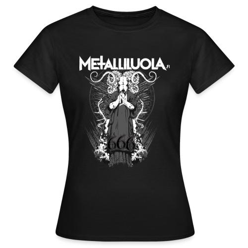 Metalliluola logo ja Demoniac 666 - Naisten t-paita