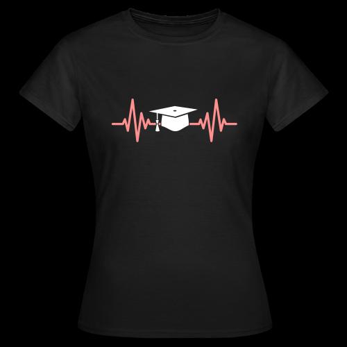 Doktorhut Herzschlag EKG Medizin Arzt Geschenk - Frauen T-Shirt