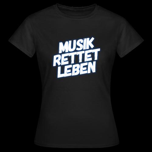 MUSIK RETTET LEBEN LOGO BLAU - Frauen T-Shirt