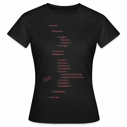 HTML Oberkörper - Frauen T-Shirt