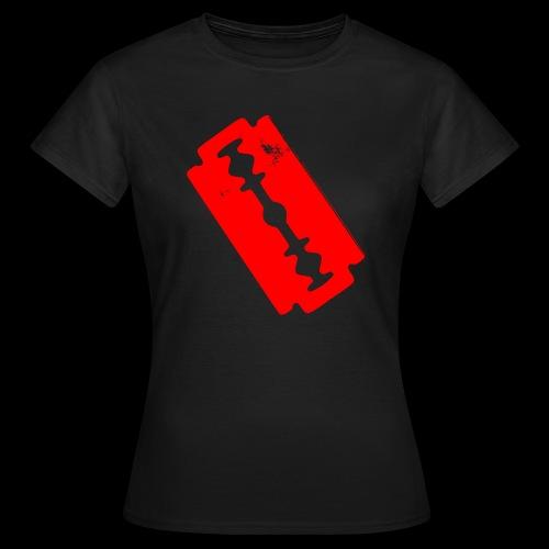 Blutige Zeichen + Rasierklinge + - Frauen T-Shirt