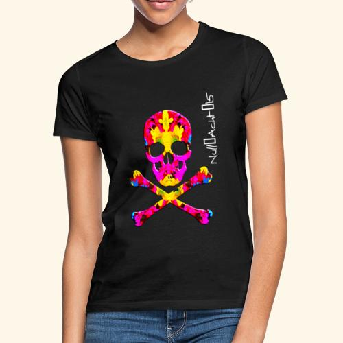 skull with white type - Frauen T-Shirt
