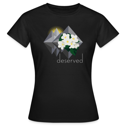 Deserved - EP logo with text - T-shirt dam