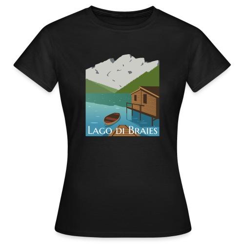Illustrazione Lago di Braies - Maglietta da donna