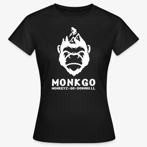 MonkeyzGoDownhill Full Logo - Frauen T-Shirt