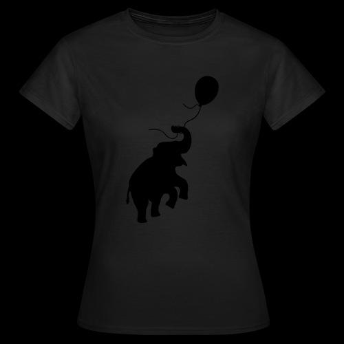Elefant mit Ballon - Frauen T-Shirt