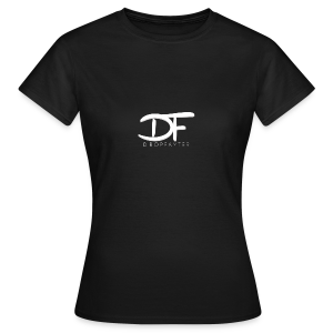 Dropfayter logo in WIT - Vrouwen T-shirt