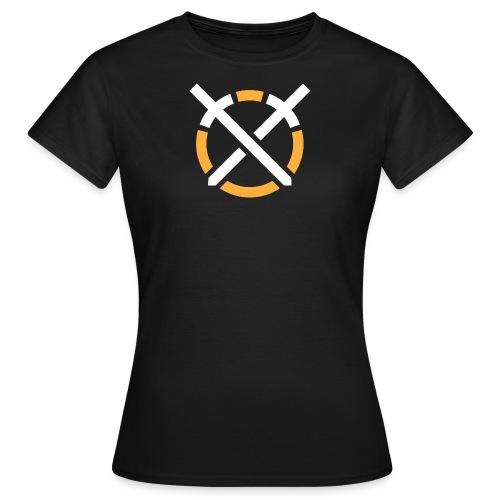 Símbolo «Arte do Combate» sobre fundo escuro - Camiseta mujer