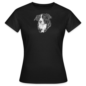 border collie S - Dame-T-shirt