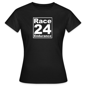 Race24 Logo - White - Women's T-Shirt