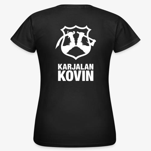 karjalan kovin logo pysty cmyk - Naisten t-paita