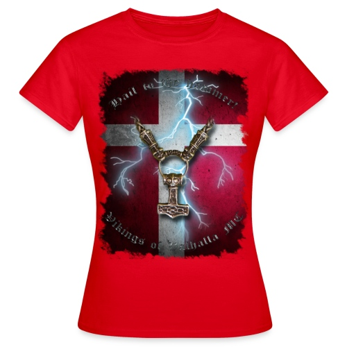 Hail to the hammer Dannebrog png - Dame-T-shirt