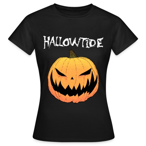 T Shirt orange pumpkin black 2014 png - Women's T-Shirt