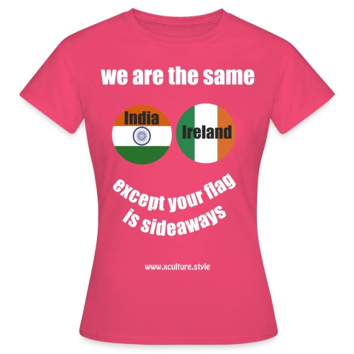 india ireland circles white text png - Women's T-Shirt