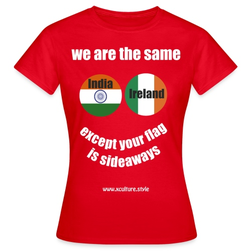india ireland circles white text png - Women's T-Shirt