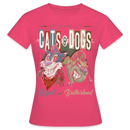 Gatos y perros - Camiseta mujer