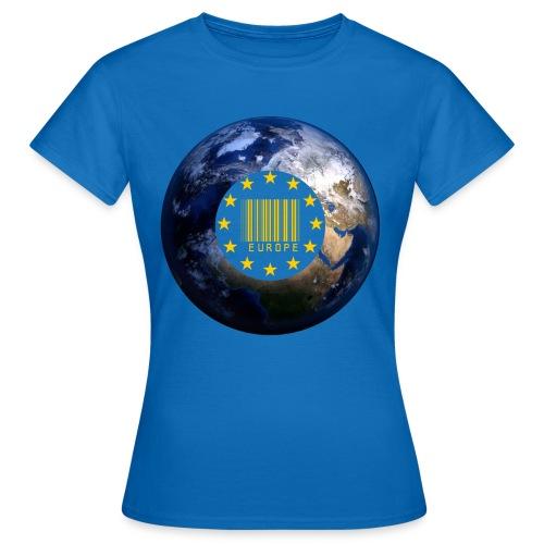 Europa EU Sterne gold Weltkugel - Frauen T-Shirt