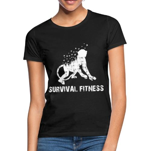 Survival Fitness Weiss - Frauen T-Shirt