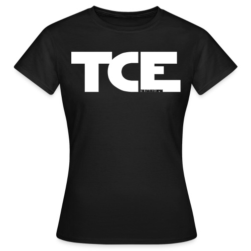 TCE TCE Logo White3 gif - Frauen T-Shirt