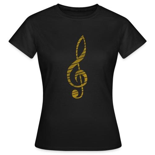 Distressed Musik Schlüsse - Women's T-Shirt