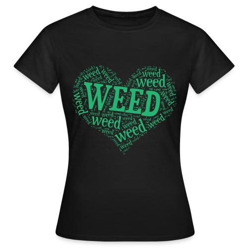 I Love Weed Heart - Women's T-Shirt