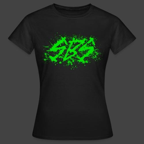 SBS Splatter Green Logo - Maglietta da donna
