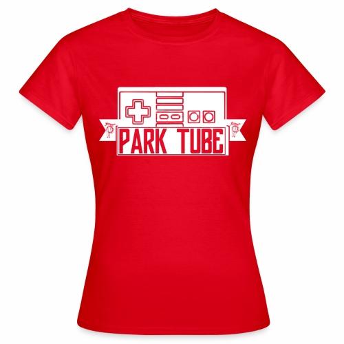 ParkTube Gaming Logo weiss - Frauen T-Shirt
