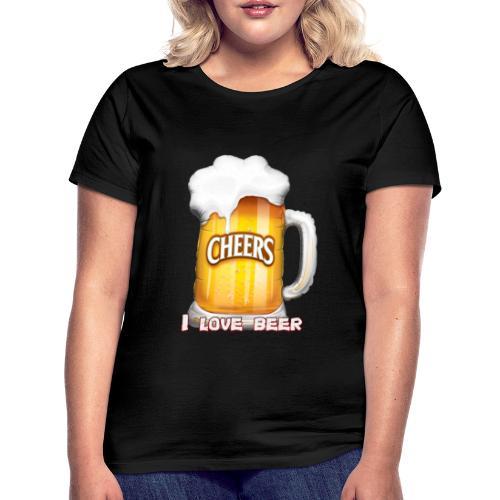 I Love Beer - Frauen T-Shirt