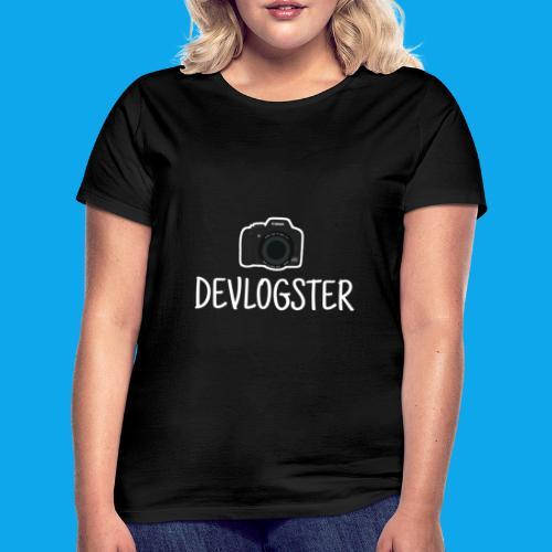 DeVlogster + camera logo - Vrouwen T-shirt