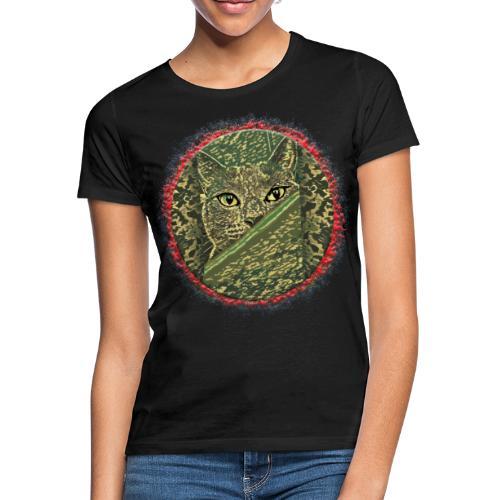 CAT GRACE CAMOUFLAGE - Frauen T-Shirt