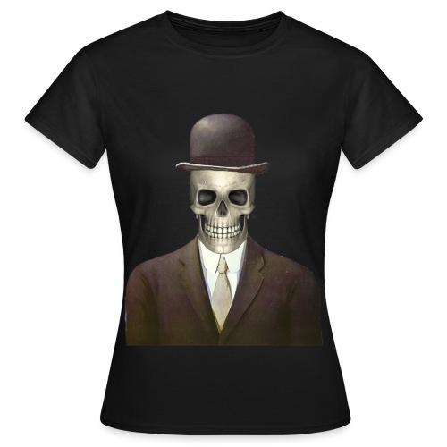 magritte skull - Maglietta da donna