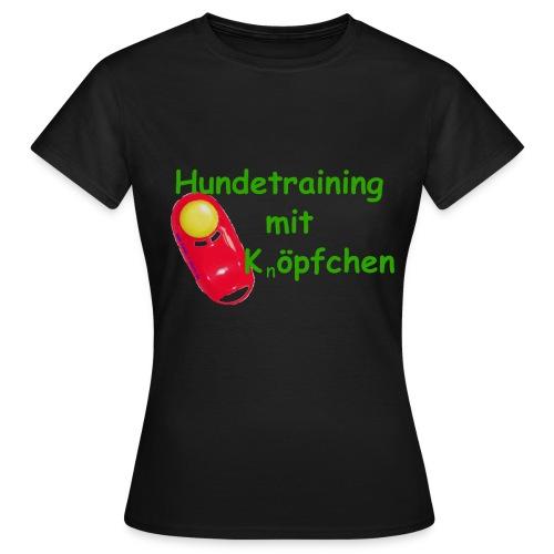 Hundetraining mit Knopfchen gif - Frauen T-Shirt