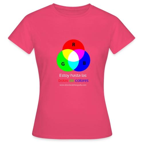 bolas de colores - Camiseta mujer