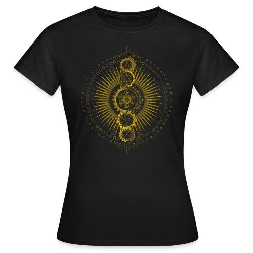 Sacred Geometry Metatron's Cube Gold Transcendence - Women's T-Shirt