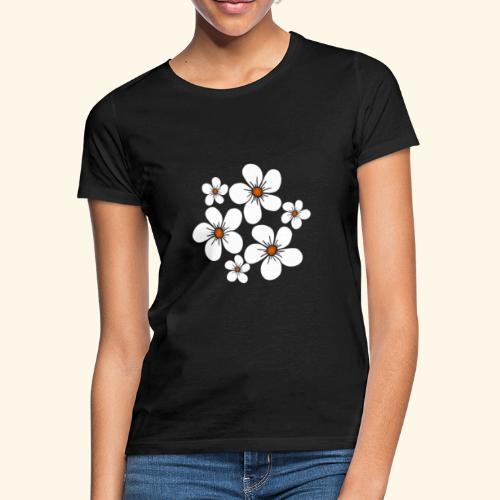 blühende weiße Blüten, Blumen, Blumenstrauß floral - Frauen T-Shirt