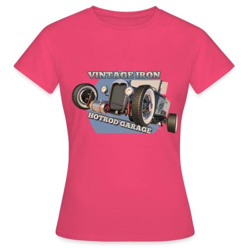 hot rod garage | vintage iron - Frauen T-Shirt
