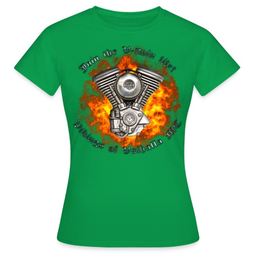 V twin png - Dame-T-shirt