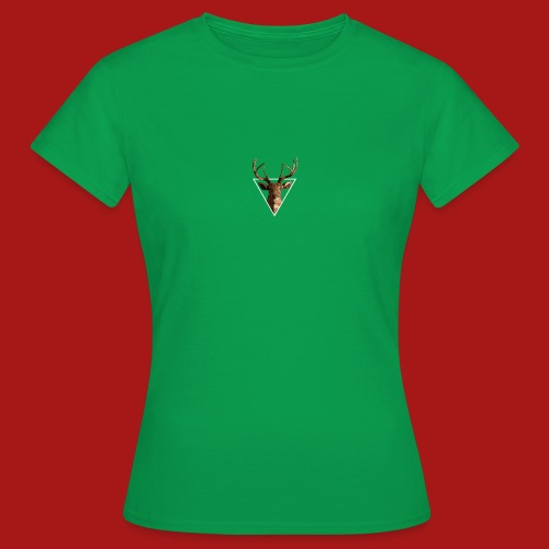 Deer-Head GOLD - Dame-T-shirt