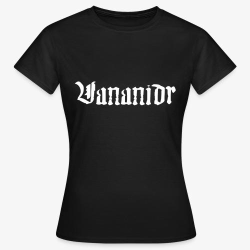 Vit logo - T-shirt dam