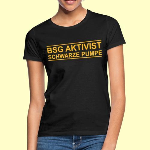 BSG Aktivist Schwarze Pumpe - Retro-Schriftzug - Frauen T-Shirt