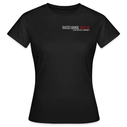 Rasselbande-logo_weiß - Frauen T-Shirt