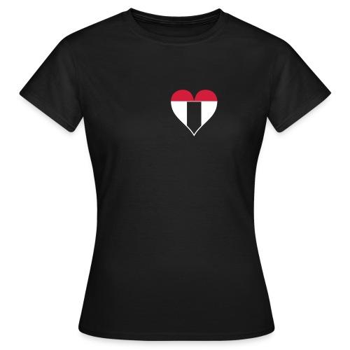 I love Baden bicolor - Frauen T-Shirt