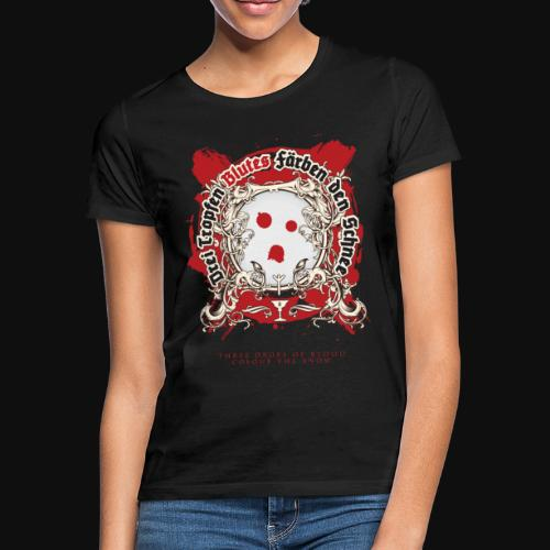 Drei dropfen blutes farben den Schnee - T-shirt Femme