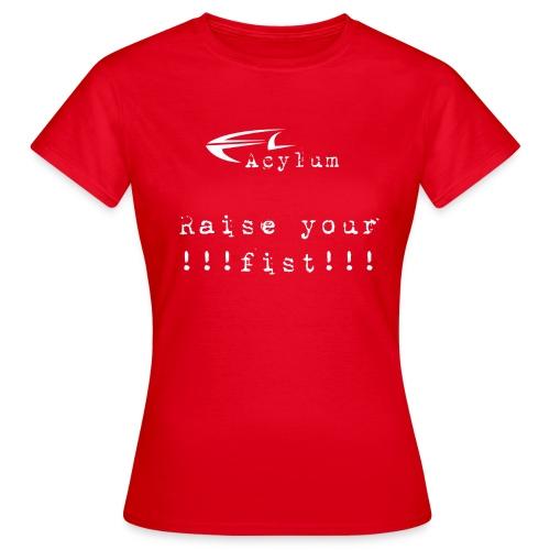 logo white raise your fist komplett - Women's T-Shirt