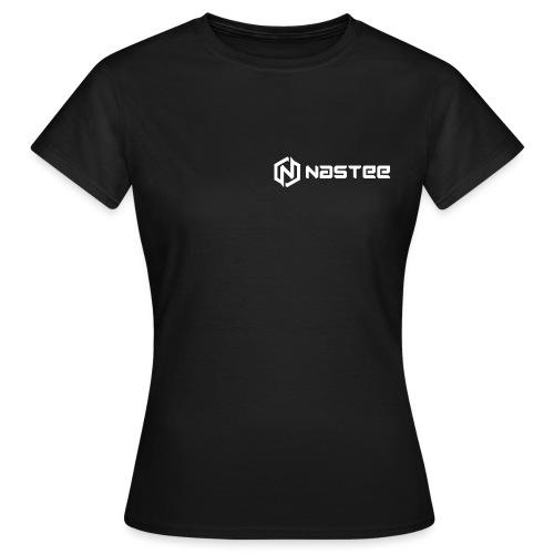 NASTEE logo Weiss - Frauen T-Shirt