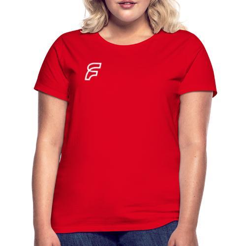 FaMe Icon Weiß + Schrift - Frauen T-Shirt