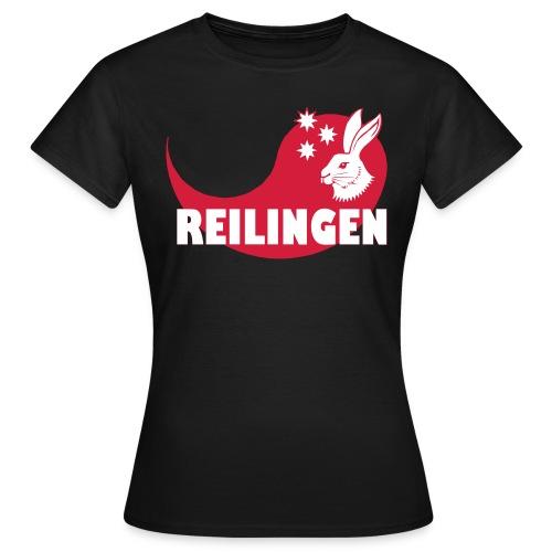 Reilingen mit Schwung und Hase - Frauen T-Shirt
