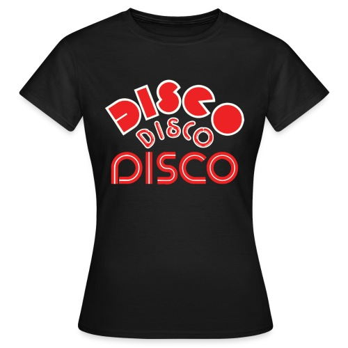 disco 123 4 black - Women's T-Shirt